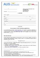 Domanda di ammissione a SOCIA AUS 2019-2020 standard